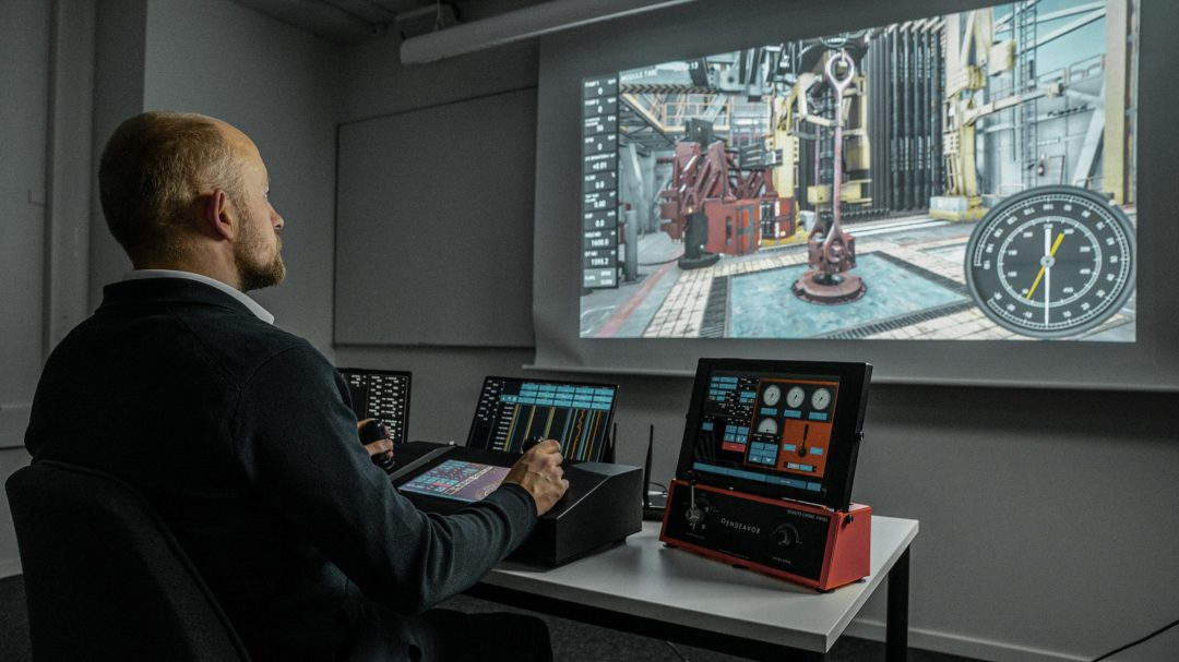 Mobile drilling operations simulator